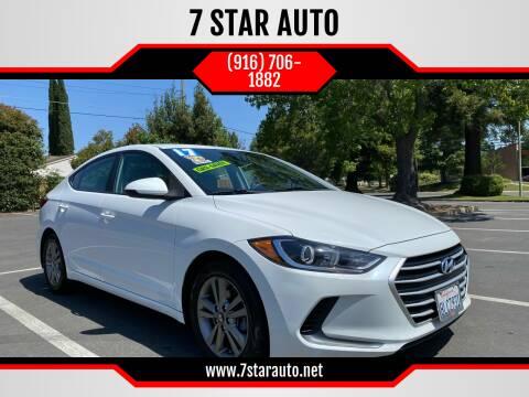 2017 Hyundai Elantra for sale at 7 STAR AUTO in Sacramento CA