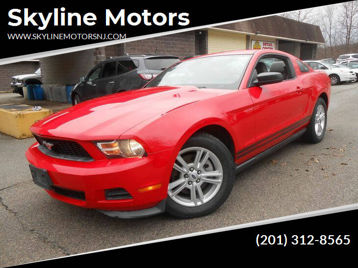 2012 Ford Mustang for sale at Skyline Motors in Ringwood NJ
