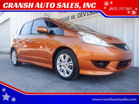 2010 Honda Fit for sale at CRANSH AUTO SALES, INC in Arlington TX