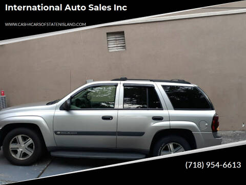 2004 Chevrolet TrailBlazer for sale at International Auto Sales Inc in Staten Island NY