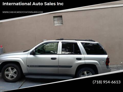 2004 Chevrolet TrailBlazer for sale at International Auto Sales Inc in Staten Island NY