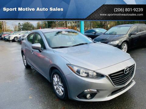 2016 Mazda MAZDA3 for sale at Sport Motive Auto Sales in Seattle WA