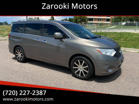 2014 Nissan Quest for sale at Zarooki Motors in Englewood CO
