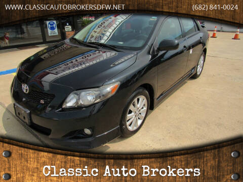 2009 Toyota Corolla for sale at Classic Auto Brokers in Haltom City TX