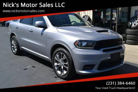 2020 Dodge Durango for sale at Nick's Motor Sales LLC in Kalkaska MI