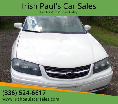 2004 Chevrolet Impala for sale at Irish Paul's Car Sales in Burlington NC