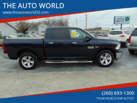 2016 RAM Ram Pickup 1500 for sale at THE AUTO WORLD in Churubusco IN