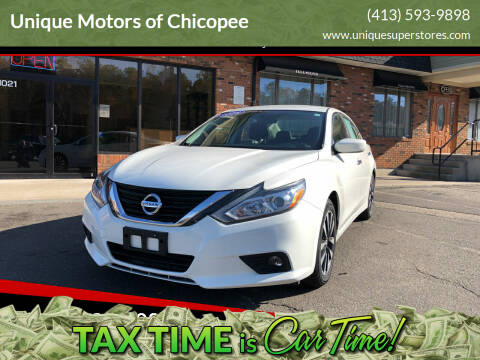 2018 Nissan Altima for sale at Unique Motors of Chicopee in Chicopee MA