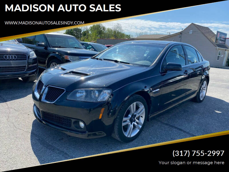 2009 Pontiac G8 for sale at MADISON AUTO SALES in Indianapolis IN