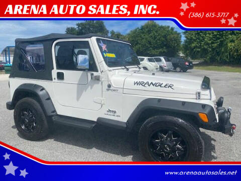 2004 Jeep Wrangler for sale at ARENA AUTO SALES,  INC. in Holly Hill FL