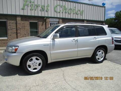2004 Toyota Highlander for sale at First Choice Auto in Greenville SC