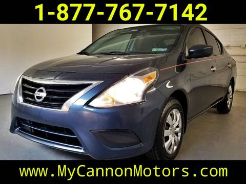 2017 Nissan Versa for sale at Cannon Motors in Silverdale PA