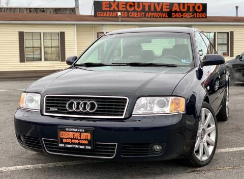 2004 Audi A6 for sale at Executive Auto in Winchester VA