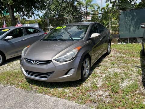 2012 Hyundai Elantra for sale at DAN'S DEALS ON WHEELS AUTO SALES, INC. in Davie FL
