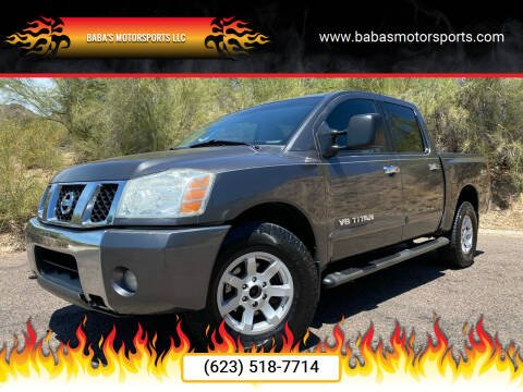 2007 Nissan Titan for sale at Baba's Motorsports, LLC in Phoenix AZ