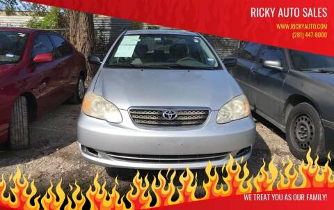 2008 Toyota Corolla for sale at Ricky Auto Sales in Houston TX