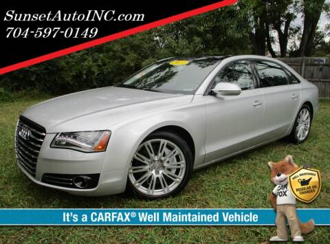 2011 Audi A8 L for sale at Sunset Auto in Charlotte NC