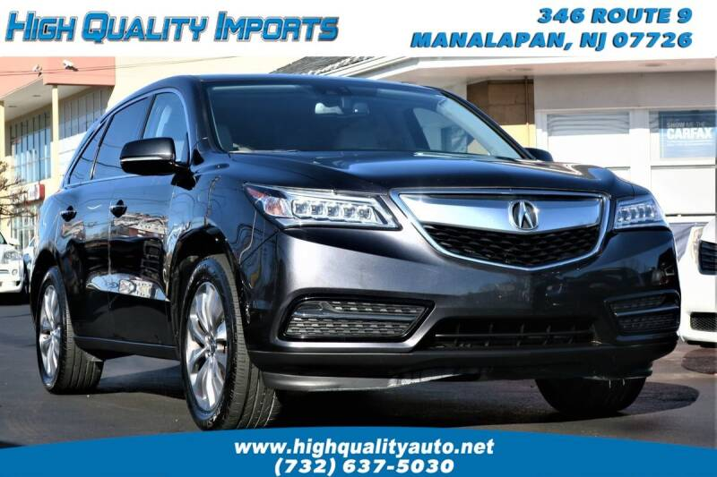 2015 Acura MDX for sale at High Quality Imports in Manalapan NJ