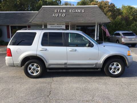 2002 Ford Explorer for sale at STAN EGAN'S AUTO WORLD, INC. in Greer SC