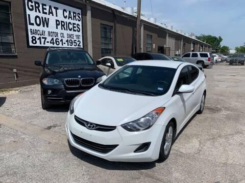 2013 Hyundai Elantra for sale at BARCLAY MOTOR COMPANY in Arlington TX