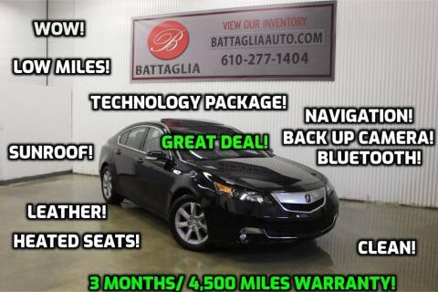 2014 Acura TL for sale at Battaglia Auto Sales in Plymouth Meeting PA
