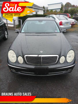 2004 Mercedes-Benz E-Class for sale at BRAUNS AUTO SALES in Pottstown PA