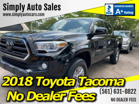 2018 Toyota Tacoma for sale at Simply Auto Sales in Palm Beach Gardens FL