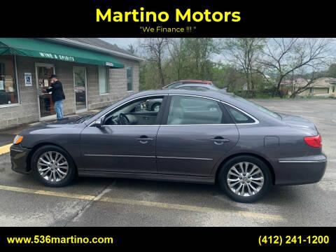 2011 Hyundai Azera for sale at Martino Motors in Pittsburgh PA