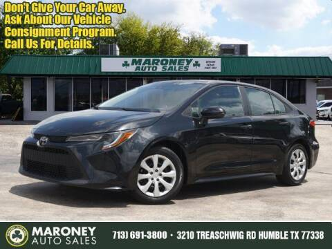 2020 Toyota Corolla for sale at Maroney Auto Sales in Humble TX