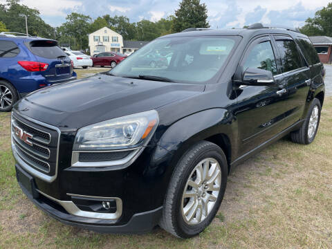 2016 GMC Acadia for sale at LAURINBURG AUTO SALES in Laurinburg NC