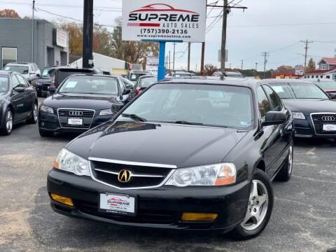 2002 Acura TL for sale at Supreme Auto Sales in Chesapeake VA