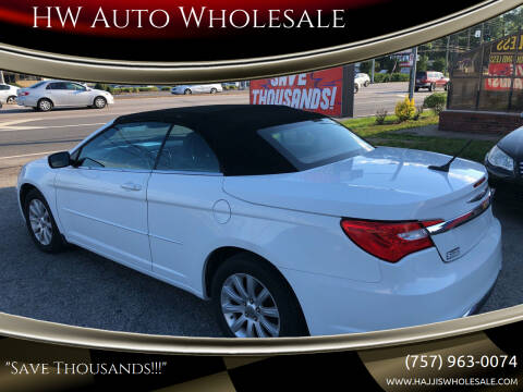 2011 Chrysler 200 Convertible for sale at HW Auto Wholesale in Norfolk VA