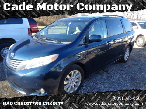2012 Toyota Sienna for sale at Cade Motor Company in Lawrenceville NJ