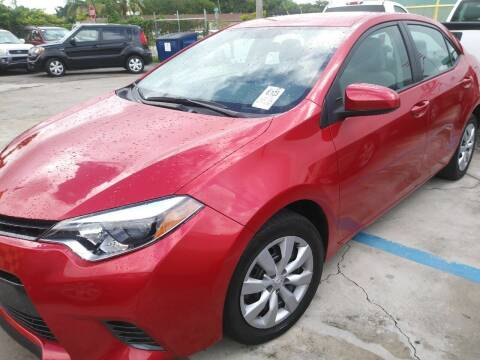 2016 Toyota Corolla for sale at Dulux Auto Sales Inc & Car Rental in Hollywood FL