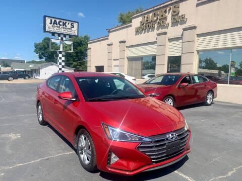 2020 Hyundai Elantra for sale at JACK'S MOTOR COMPANY in Van Buren AR