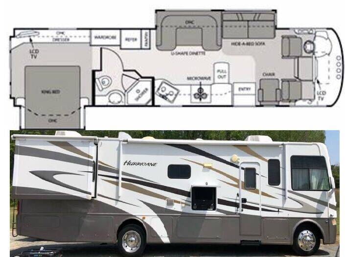 2011 Four Winds Hurricane 34U for sale at S & M WHEELESTATE SALES INC - Class A in Princeton NC