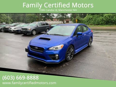 2016 Subaru WRX for sale at Family Certified Motors in Manchester NH