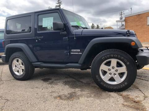 2013 Jeep Wrangler for sale at KUDICK AUTOMOTIVE in Coleman WI