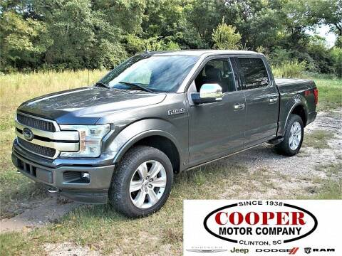 2018 Ford F-150 for sale at Cooper Motor Company in Clinton SC