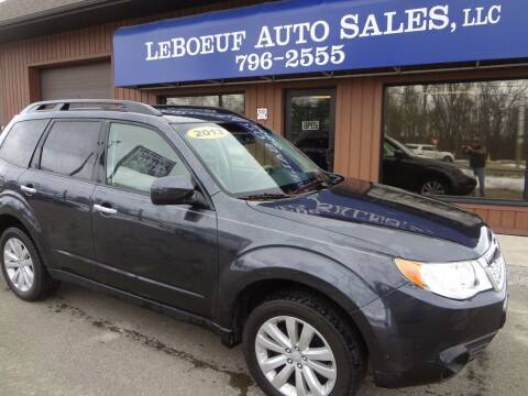 2013 Subaru Forester for sale at LeBoeuf Auto Sales in Waterford PA