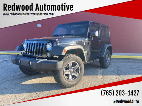 2017 Jeep Wrangler for sale at Redwood Automotive in Anderson IN