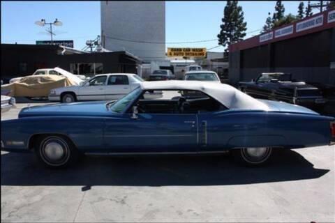1972 Cadillac Eldorado for sale at Frank Corrente Cadillac Corner in Hollywood CA