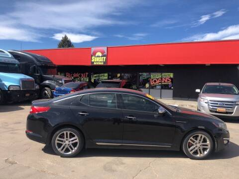 2013 Kia Optima for sale at Sunset Auto Sales & Repair in Lasalle CO