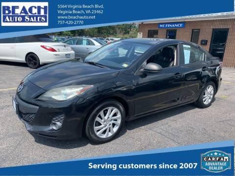 2012 Mazda MAZDA3 for sale at Beach Auto Sales in Virginia Beach VA