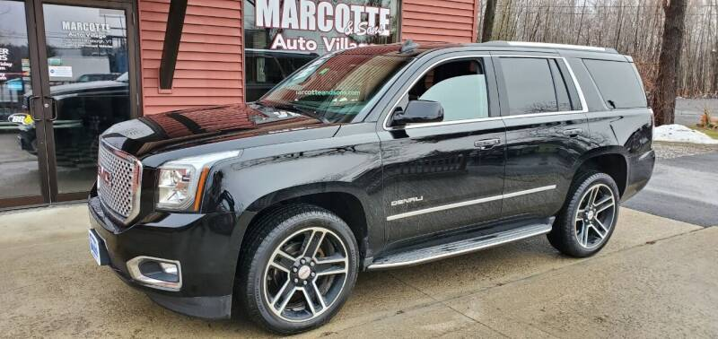 2017 GMC Yukon for sale at Marcotte & Sons Auto Village in North Ferrisburgh VT