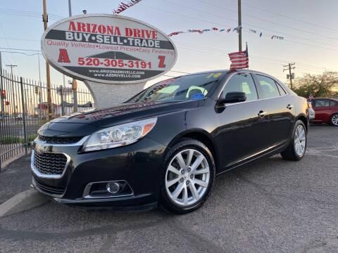 2014 Chevrolet Malibu for sale at Arizona Drive LLC in Tucson AZ