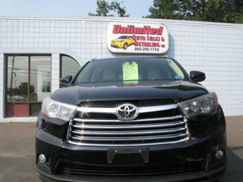 2015 Toyota Highlander for sale at Unlimited Auto Sales & Detailing, LLC in Windsor Locks CT