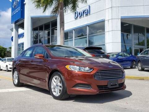 2016 Ford Fusion for sale at DORAL HYUNDAI in Doral FL