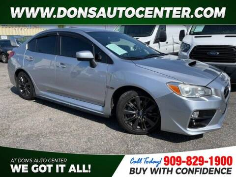 2015 Subaru WRX for sale at Dons Auto Center in Fontana CA