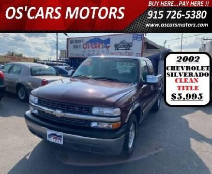 2002 Chevrolet Silverado 1500 for sale at Os'Cars Motors in El Paso TX